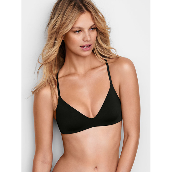VICTORIA\'S SECRET Lightly Lined Wireless Bra Black On Sale
