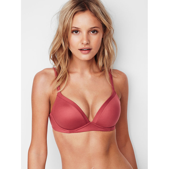 VICTORIA'S SECRET NEW! Wireless Bra Cool Maroon On Sale