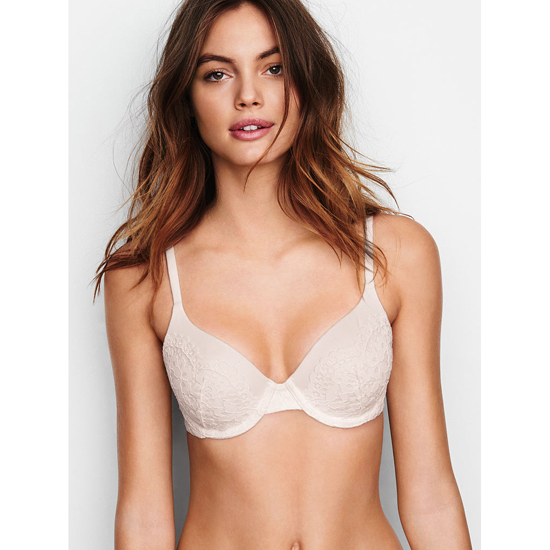 VICTORIA'S SECRET NEW! Perfect Coverage Bra Silver Pewter On Sale