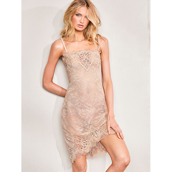 VICTORIA'S SECRET NEW! Crochet Lace Slip Sugar Cookie On Sale