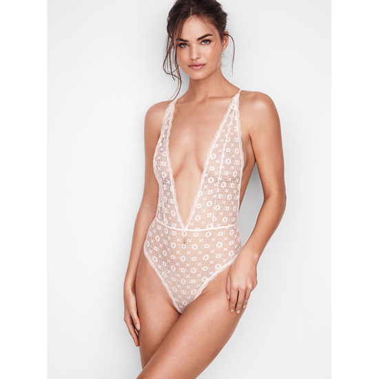 VICTORIA\'S SECRET Teddies & Bodysuits Coconut White On Sale