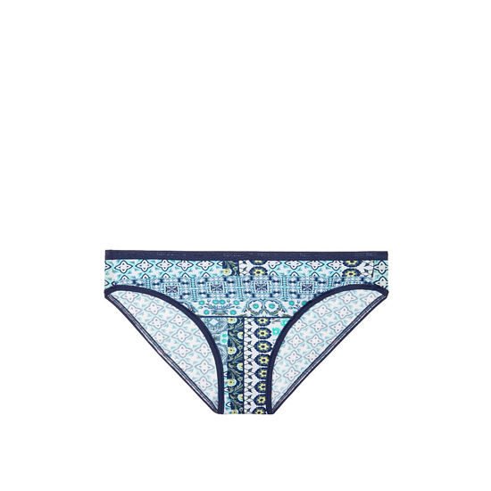 VICTORIA'S SECRET NEW! Bikini Panty Aqua Splash Geo Patchwork Print On Sale