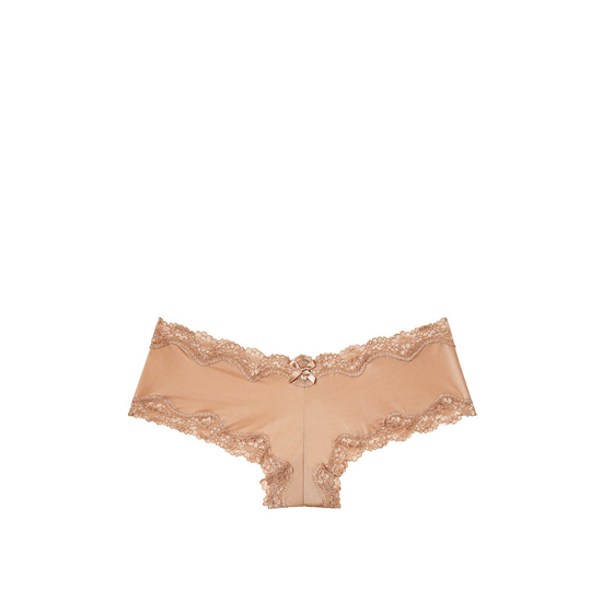 VICTORIA'S SECRET NEW! Lace-Trim Cheeky Panty Light Nude On Sale