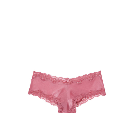 VICTORIA'S SECRET Lace-Trim Cheeky Panty Rosy Mauve On Sale