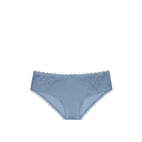 VICTORIA'S SECRET NEW! Lace Hiphugger Panty Faded Denim On Sale