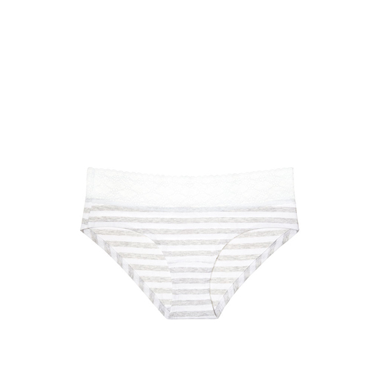 VICTORIA'S SECRET Lace-waist Hiphugger Panty Grey Stripe On Sale