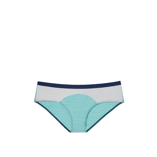 VICTORIA'S SECRET NEW! Marl Hipster Panty Cozumel Teal Colorblock On Sale