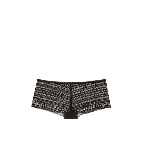 VICTORIA'S SECRET NEW! Lace Shortie Panty Black On Sale