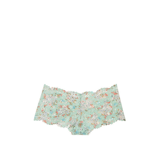VICTORIA'S SECRET NEW! The Floral Lace Sexy Shortie Silver Sea Printed Lace On Sale