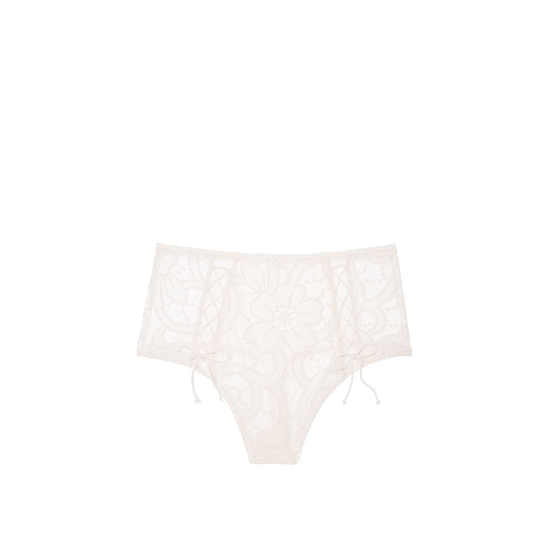 VICTORIA\'S SECRET NEW! Lace High-waist Thong Panty Coconut White On Sale