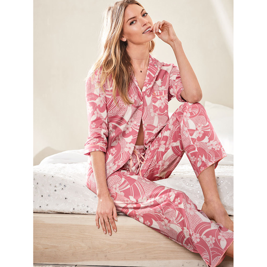 VICTORIA'S SECRET NEW! The Mayfair Pajama Rosy Mauve Floral On Sale