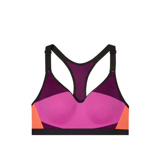 VICTORIA'S SECRET NEW! Incredible by Victoria Sport Bra Dragonfruit Colorblock On Sale